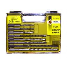 Набор буров SDS+ 5;6;8Х110 мм, 6;8;10Х160 мм, 8;10Х210 мм, 8 штук, пластиковый кейс