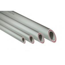 Труба PPR 20х 2,8мм PN20 армир.стек.серая (4/180)