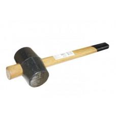 Киянка резиновая 225 грамм с деревянной рукояткой