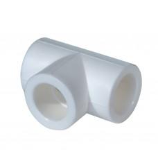 Тройник PPR 50 мм белый