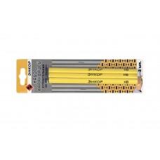 Набор карандашей строительных овальных, 3 штуки