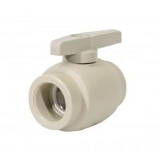 Кран шаровой PPR 32 мм серый