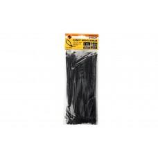 Хомут монтажный 3,6х200 черный (100шт) пластиковый