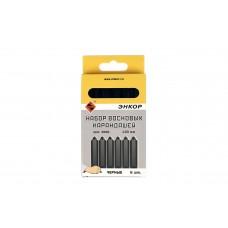 Набор восковых карандашей 6 шт. черные