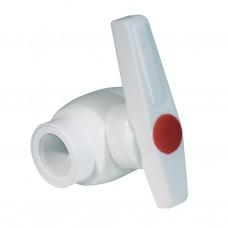 Кран шаровой PPR 25 мм белый
